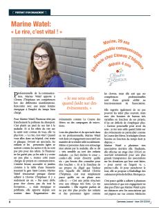 Article Portrait d'un engagement -Carenews -page 1