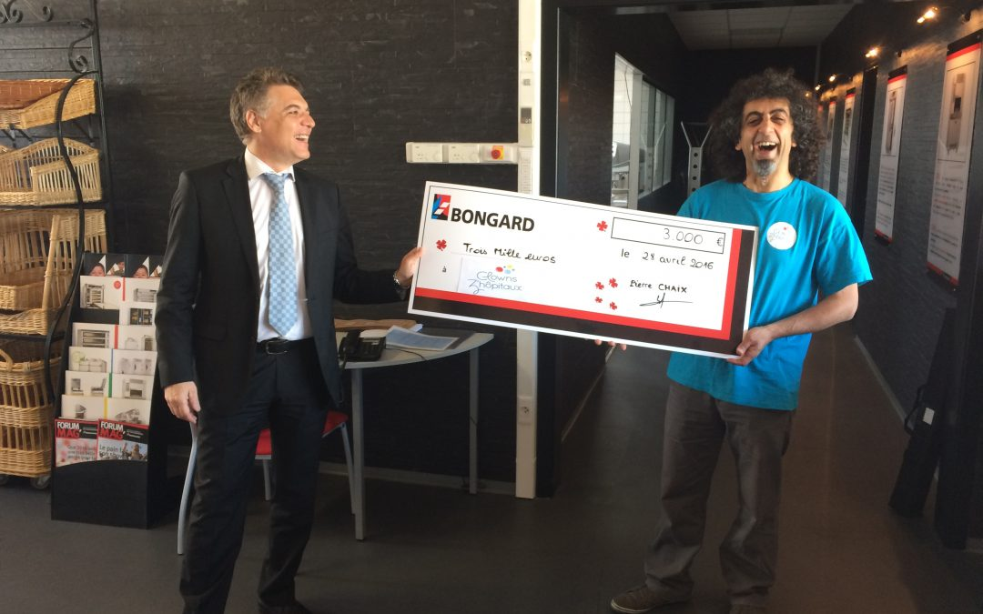 """""""Clowns Z'hôpitaux"""" remercie l'entreprise Bongard pour son don de 3 000 euros !"""