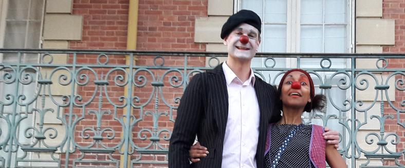 Nos Clowns sont bien arrivés à l'EHPAD du Château de la Fontaine aux Cossons !