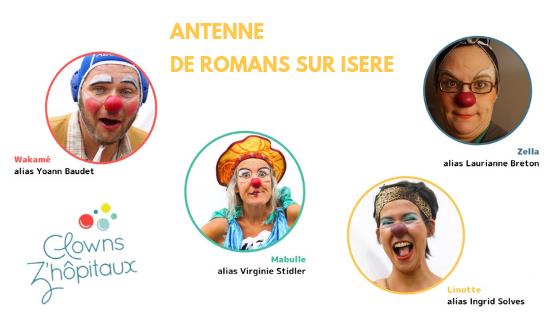 trombinoscope clowns de l'antenne de Romans sur Isère