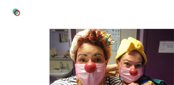 Duo de clowns à l'hôpital