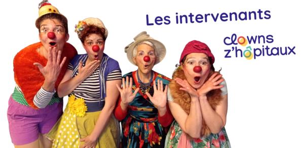 Les comédiens clowns de Clowns Z'hôpitaux