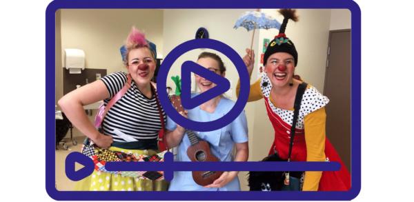Découvrez la série de vidéos sur une visite de clown à l'hôpital