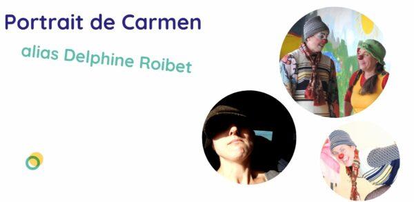 portrait de Carmen, clown à l'hôpital sur Carcassonne